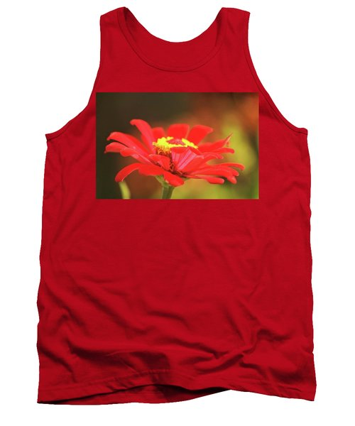 Tank Top featuring the photograph Zinnia by Donna G Smith
