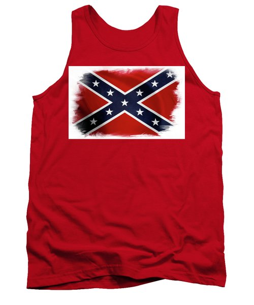 Confederate Flag 10 Tank Top