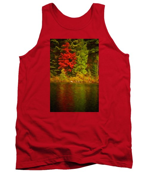 Fall Reflections Tank Top by Andre Faubert