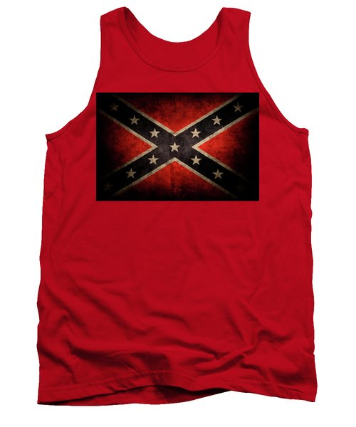 Confederate Flag 7 Tank Top