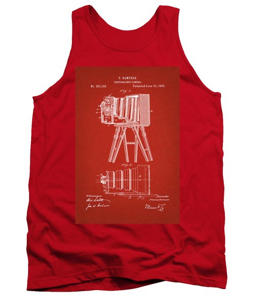 1885 Camera Us Patent Invention Drawing - Red Tank Top