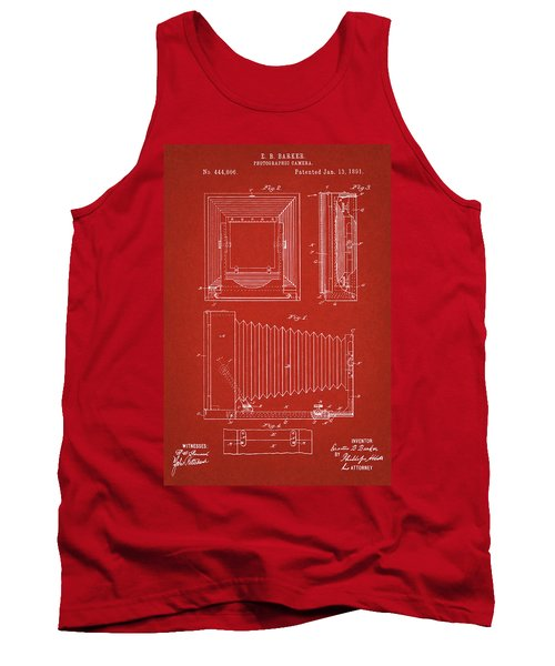 1891 Camera Us Patent Invention Drawing - Red Tank Top