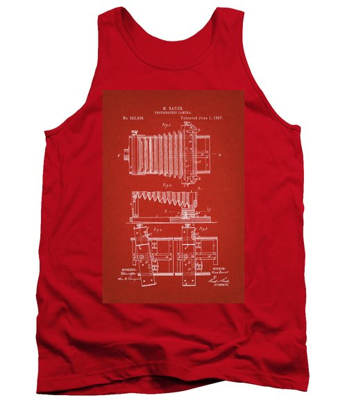 1897 Camera Us Patent Invention Drawing - Red Tank Top