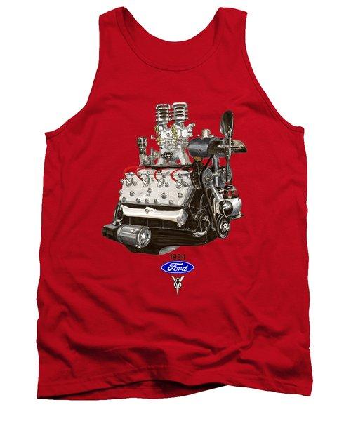 1934 Ford Flathead V 8 Tee Shirt Tank Top by Jack Pumphrey