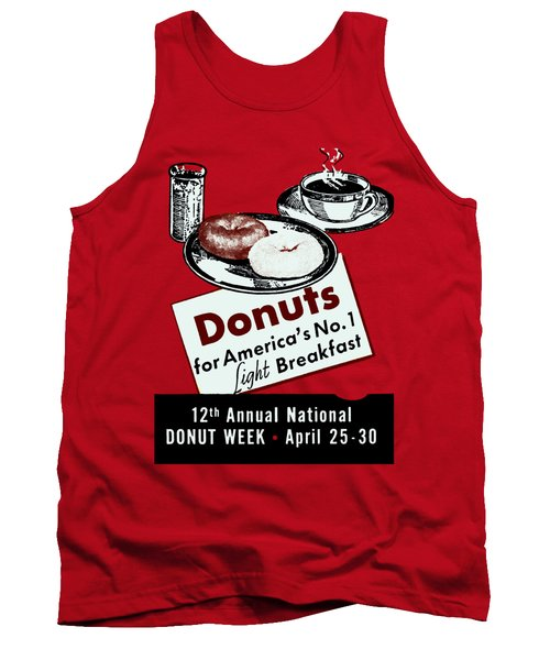 1940 Donut Poster Tank Top
