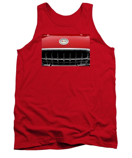 Tank Top featuring the photograph 1959 Corvette by M G Whittingham