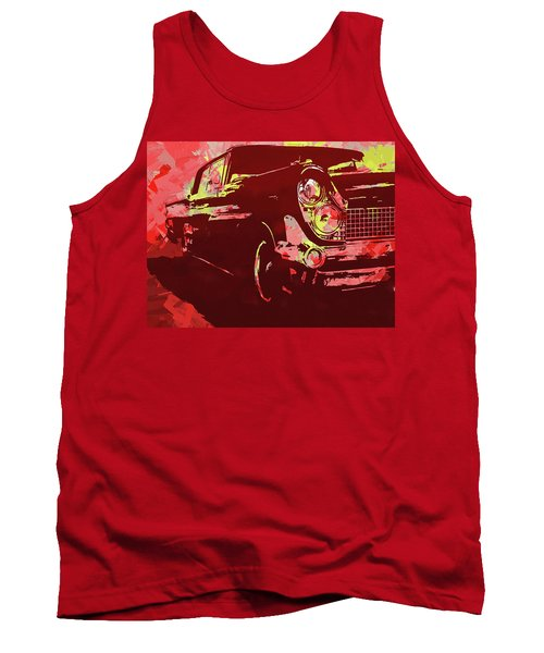 1959 Lincoln Continental Red Pop Tank Top