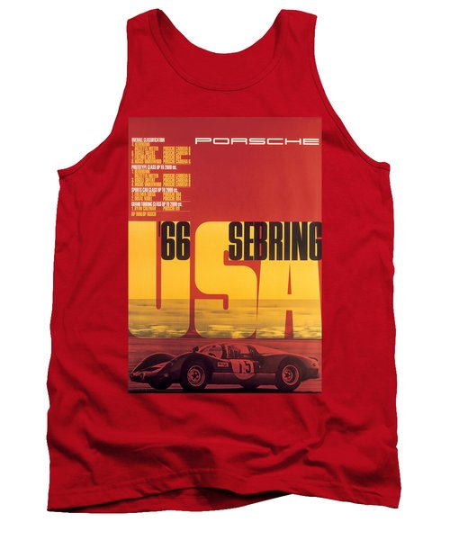 1966 Porsche 12 Hours Of Sebring Tank Top