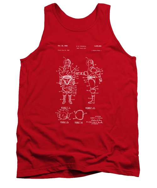 1968 Hard Space Suit Patent Artwork - Red Tank Top