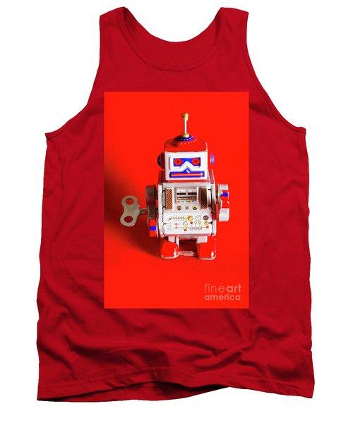 1970s Wind Up Dancing Robot Tank Top