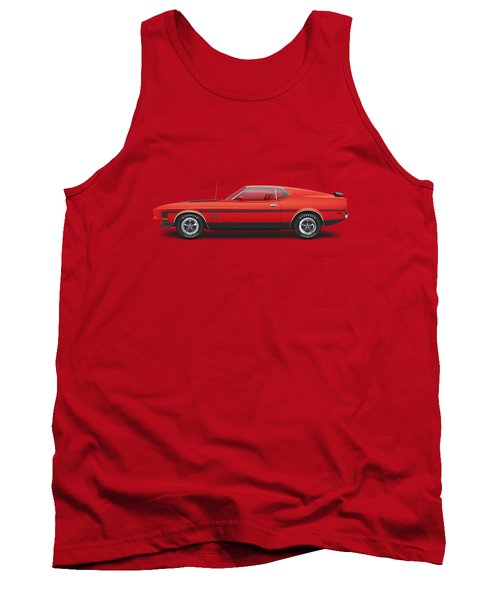 1971 Ford Mustang 351 Mach 1 - Bright Red Tank Top