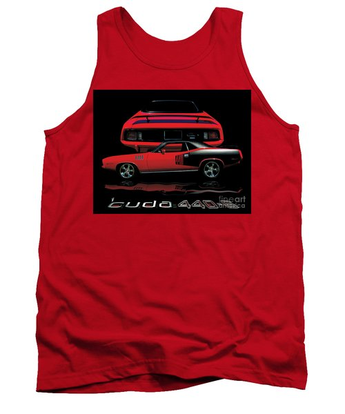 1971 Plymouth Cuda 440 Six Pack    Tank Top by Peter Piatt