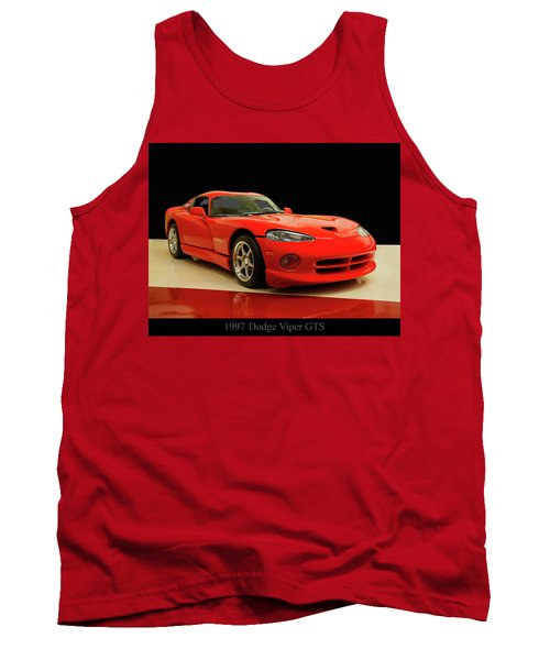 Tank Top featuring the digital art 1997 Dodge Viper Gts Red by Chris Flees