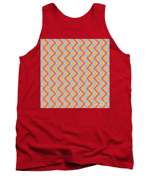 Abstract Orange, White And Red Pattern For Home Decoration Tank Top