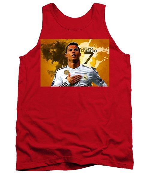 Cristiano Ronaldo Tank Top by Semih Yurdabak