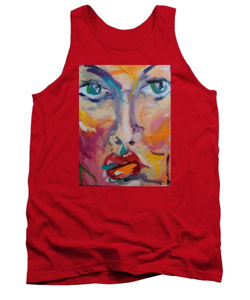 Face Tank Top by Heather Roddy