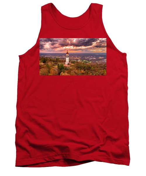 Heublein Tower, Simsbury Connecticut, Cloudy Sunset Tank Top by Petr Hejl