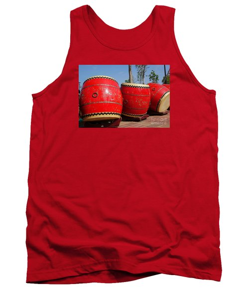 Large Chinese Drums Tank Top by Yali Shi