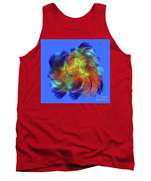 Multicolored Abstract Figures Tank Top
