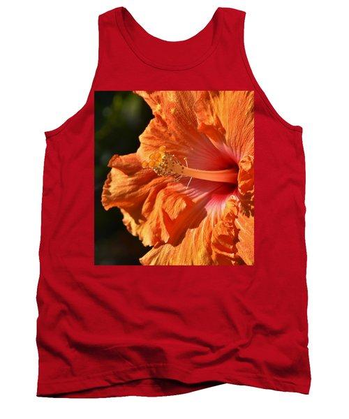 orange Hibiscus blossom Tank Top