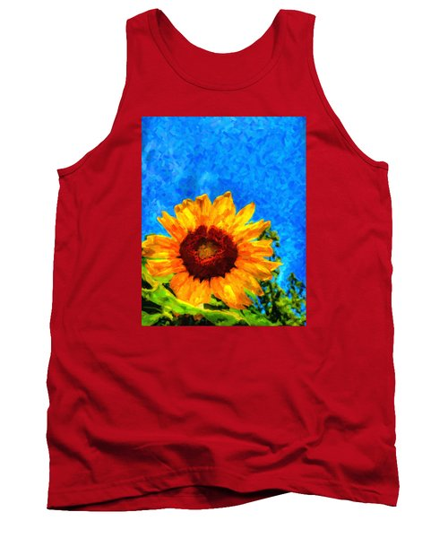 Sunflower  Tank Top by Andre Faubert