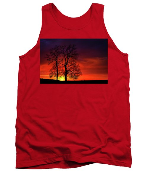 Tank Top featuring the photograph Sunset by Bess Hamiti