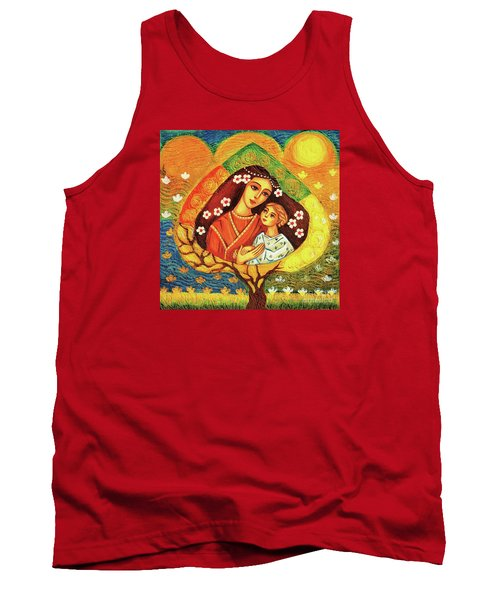 Tank Top featuring the painting Tree Of Life by Eva Campbell