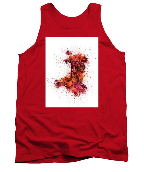 Wales Paint Splashes Map Tank Top