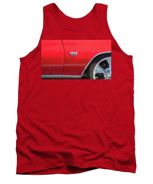 Tank Top featuring the photograph 1970 Chevy Chevelle 454 Ss  by Rich Franco