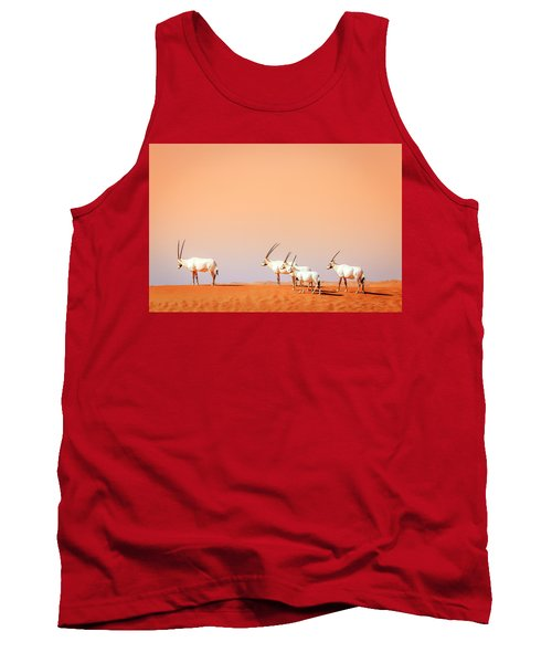 Tank Top featuring the photograph Arabian Oryx by Alexey Stiop