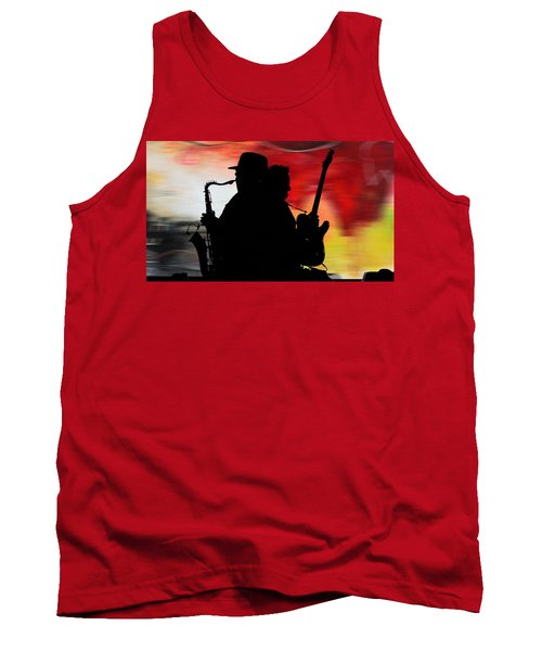 Bruce Springsteen Clarence Clemons Tank Top by Marvin Blaine