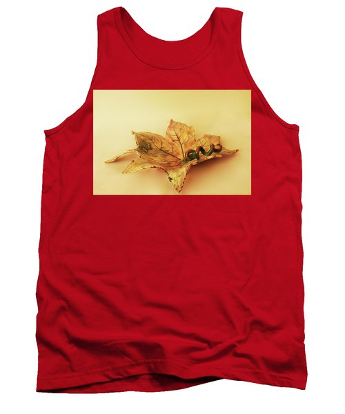 Tank Top featuring the photograph Leaf Plate1 by Itzhak Richter