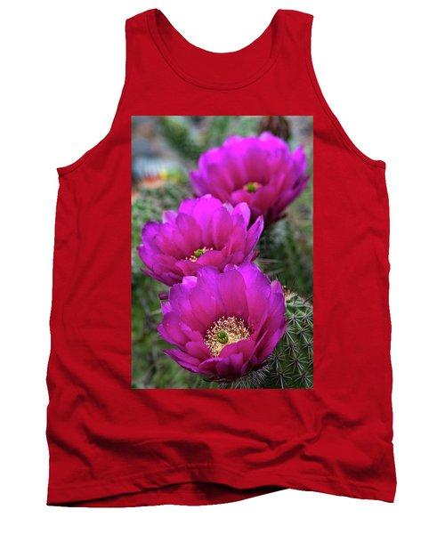 Tank Top featuring the photograph Pink Hedgehog Cactus  by Saija Lehtonen