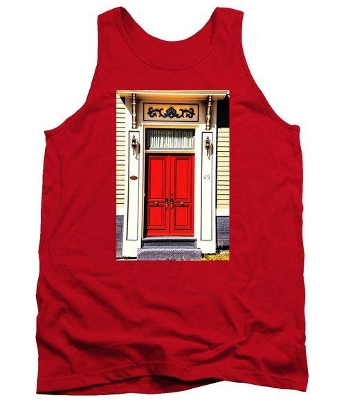 Red Door Tank Top by Rick Bragan