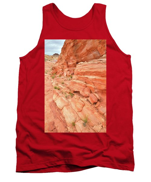 Tank Top featuring the photograph Sandstone Wall In Valley Of Fire by Ray Mathis