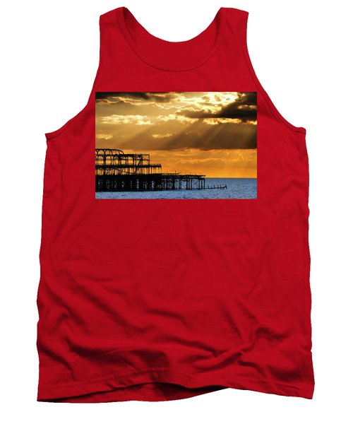 The West Pier In Brighton At Sunset Tank Top