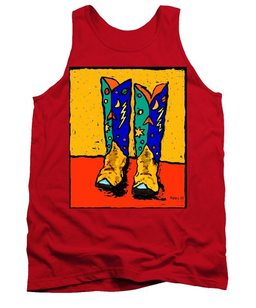 30x36  Boots On Yellow Tank Top