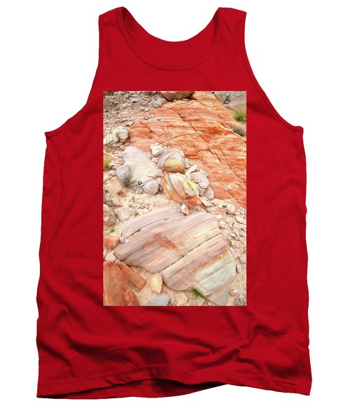 Tank Top featuring the photograph Multicolored Sandstone In Valley Of Fire by Ray Mathis