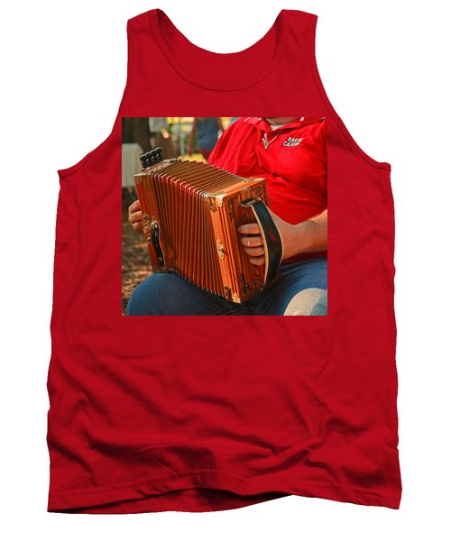Acordian Tank Top by Ronald Olivier