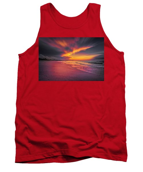 Tank Top featuring the photograph Dominicana Beach by Peter Lakomy