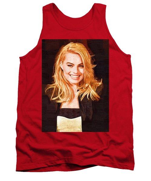 Margot Robbie Painting Tank Top