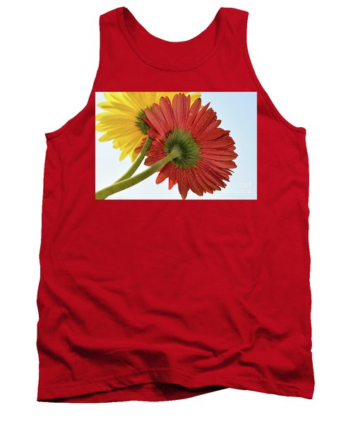 Red And Yellow Tank Top by Elvira Ladocki