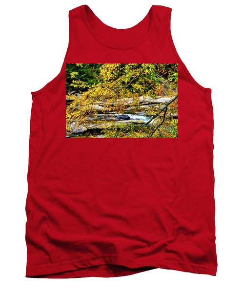Autumn Middle Fork River Tank Top by Thomas R Fletcher