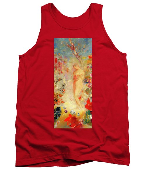 Tank Top featuring the painting Pandora by Odilon Redon