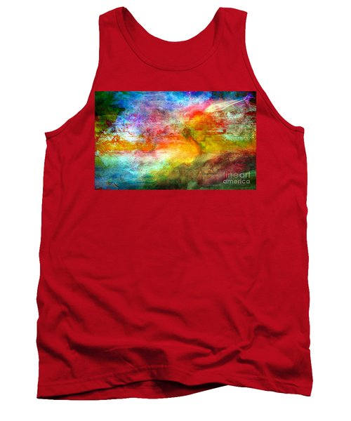 5a Abstract Expressionism Digital Painting Tank Top