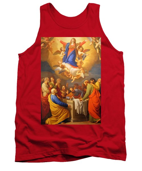 Tank Top featuring the painting Angels by Munir Alawi