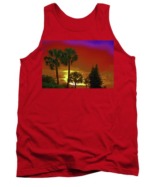 Tank Top featuring the digital art 7- Holiday by Joseph Keane