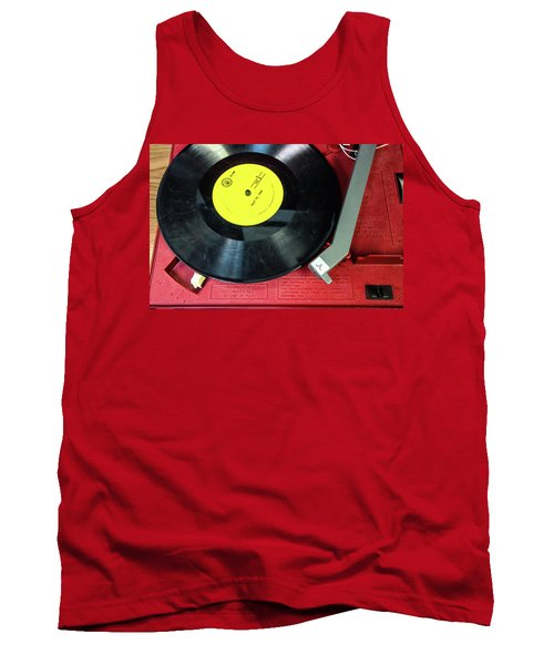 Tank Top featuring the photograph 8 Rpm Record Player by Gary Slawsky