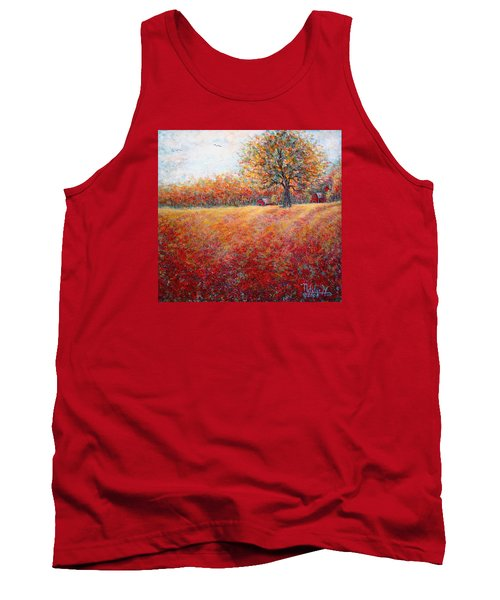 Tank Top featuring the painting A Beautiful Autumn Day by Natalie Holland