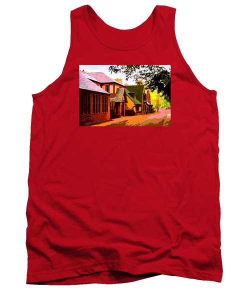 A Bicyclist On English Lane Tank Top